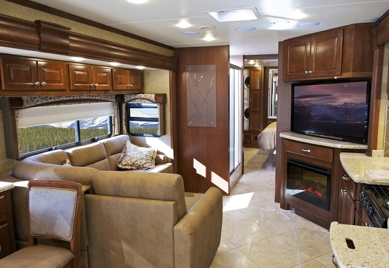 The interior of many RVs produced today have all of the comforts of a small house.